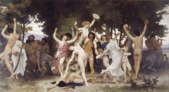 El pintor francés representa una fiesta dionisiaca