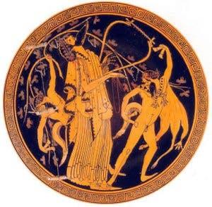 Representación del dios griego