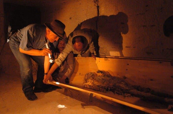 Momia de la Reina-Faraona Hatshepsut descubierta en 2005