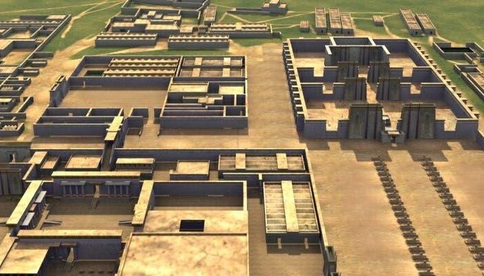 Reconstruccuón de como debía ser la ciudad dedicada a Atón, Amarna