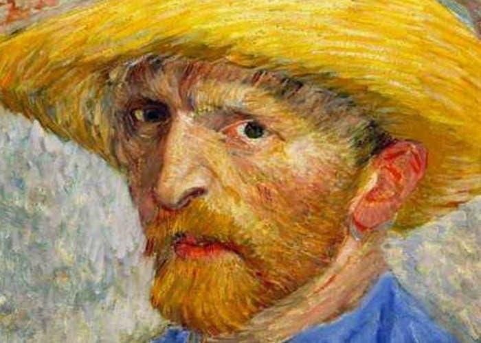 Autorretrato de Vincent Van Gogh con sombrero de paja