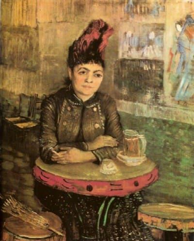 Mujer en el cafe du Tambouriné de París