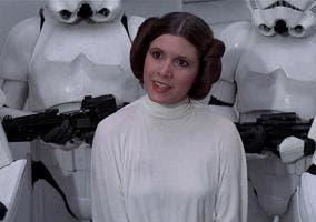 Una de los poquísimos personajes femeninos de Star Wars