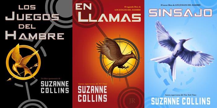 Los tres libros que forman la trilogía de Los juegos del hambre