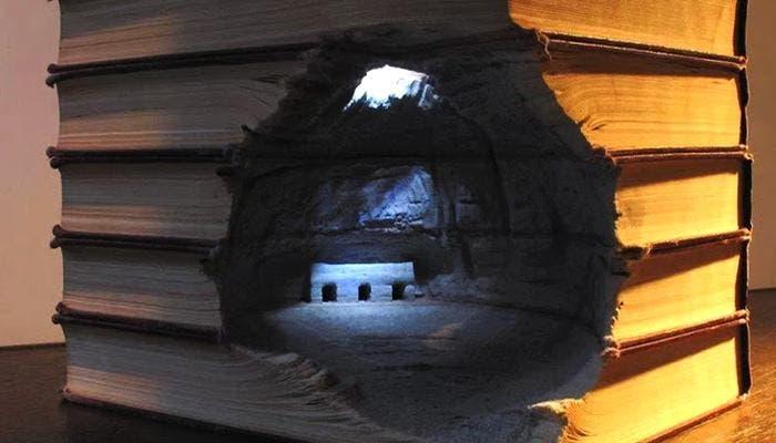 Paisaje esculpido en libros