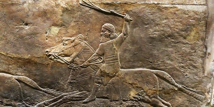 Assurbanipal a la caza del león