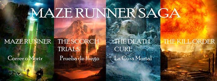 Los cuatro libros de la saga Maze runner