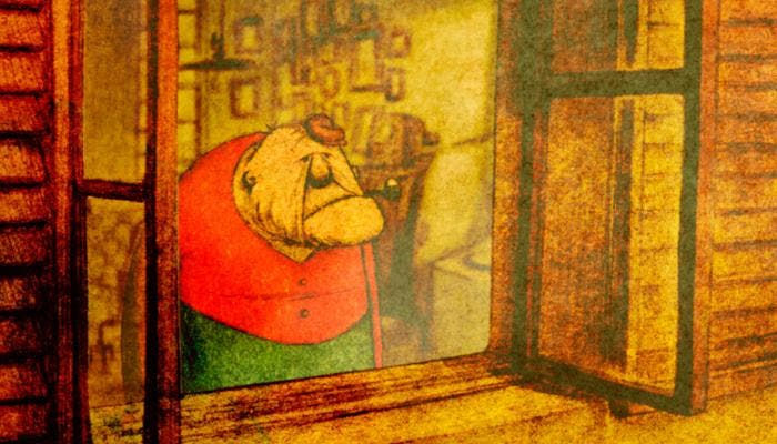 Fotograma del cortometraje animado La maison petites cubes