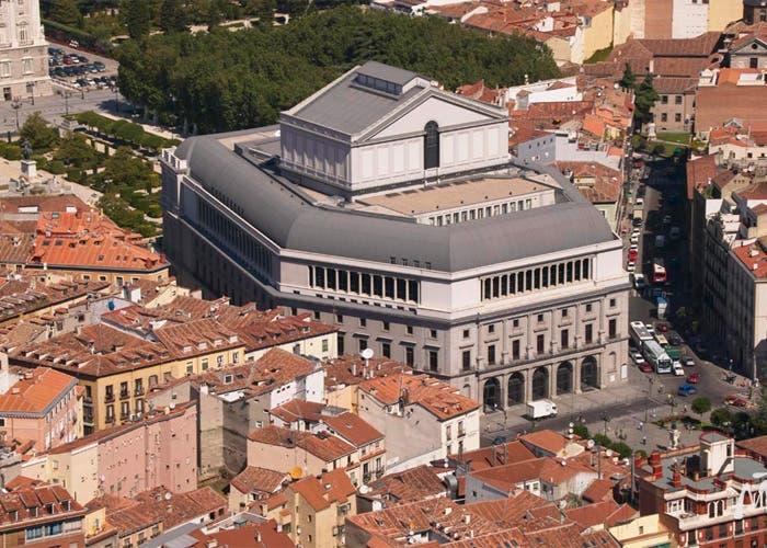 Vista aérea del  Teatro Real en Madrid