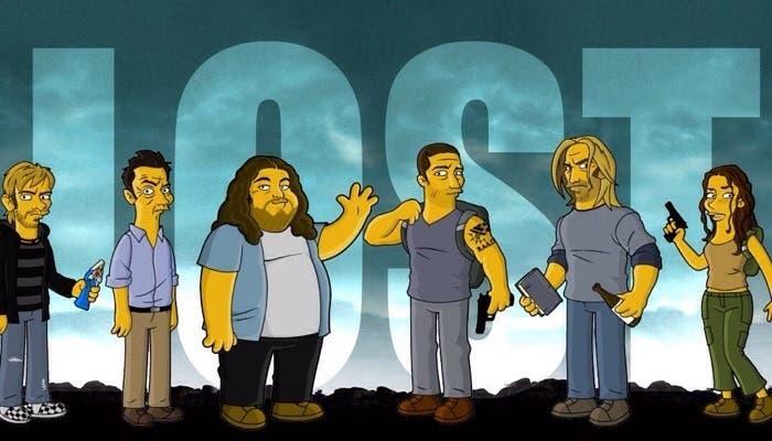Parodia de Lost como personajes de Los Simpsons