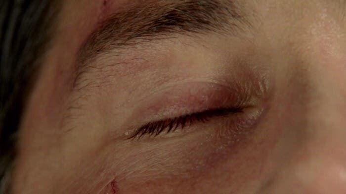 El ojo de Jack cerrándose