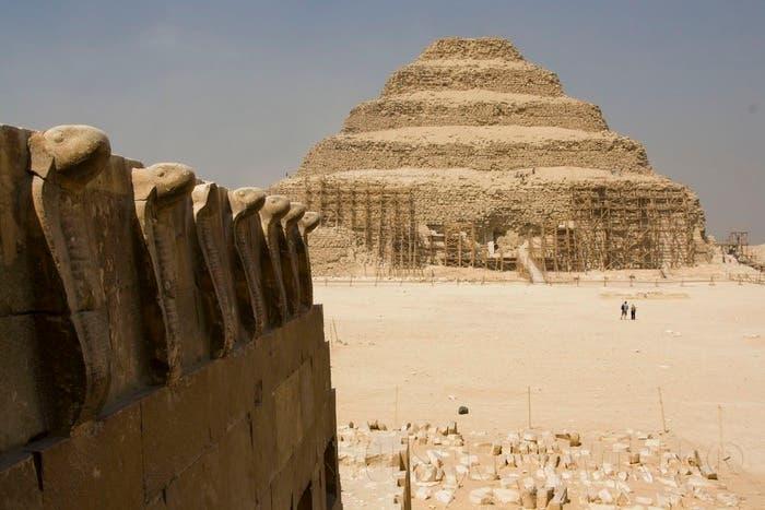La Pirámide escalonada de Zoser en periodo de restauración
