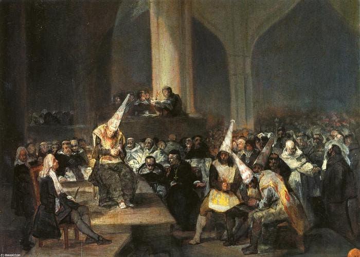 Auto de fe de la Inquisición, Francisco de Goya, 1812-1819