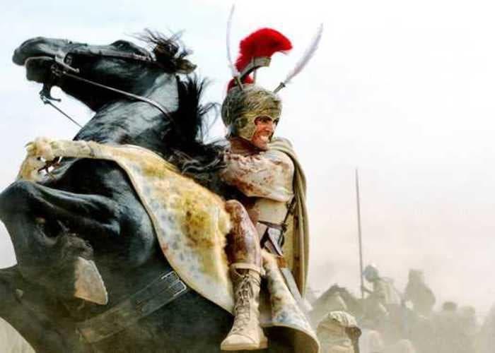Alejandro III de Macedonia sobre su caballo Bucéfalo