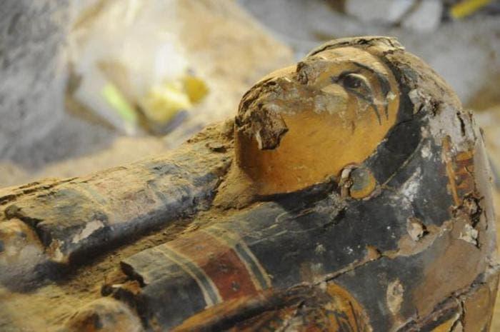 Imagen del sarcofago de Amón