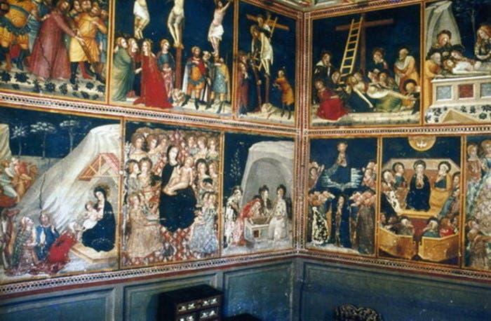 Detalle del colorido de las pinturas tras la restauración