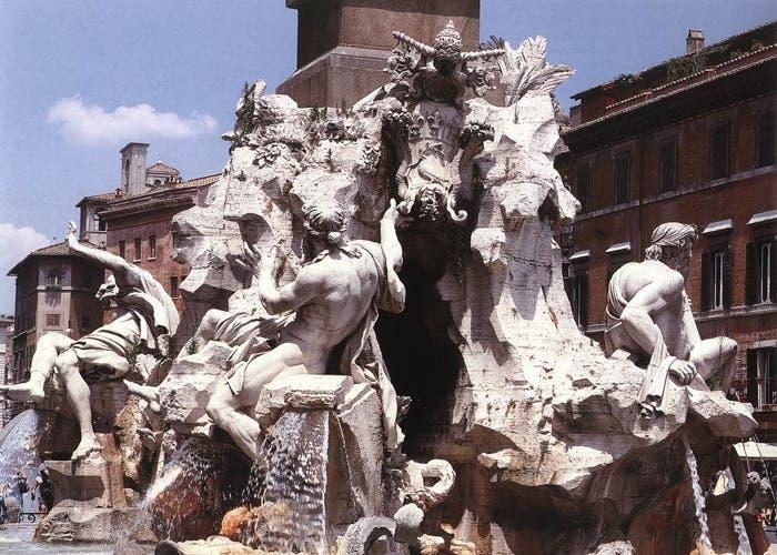 La Fuente de los cuatro ríos realizada por Gianlorenzo Bernini