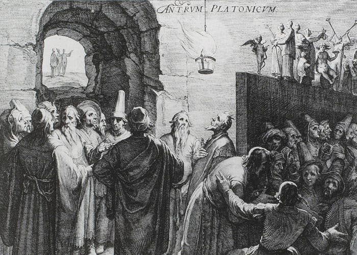 Representación de la alegoría platónica