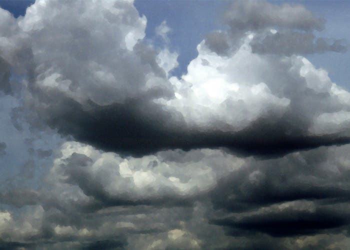 Las nubes no siempre indican lluvia