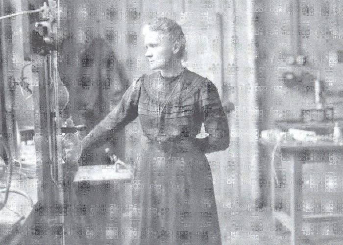 Madame Curie en su laboratorio