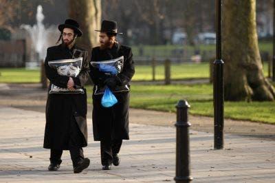 Judios ortodoxos en el parque de Springfield