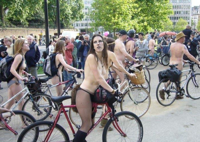 Ciclistas en el centro de Londres