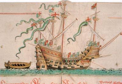 Dibujo barco ingles